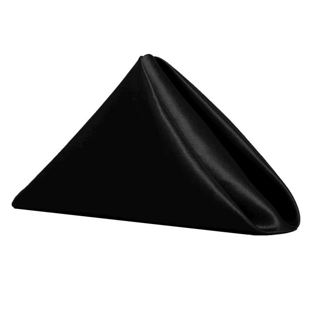 Where to find NAPKIN, 20 X 20 BLACK SATIN in Tulsa