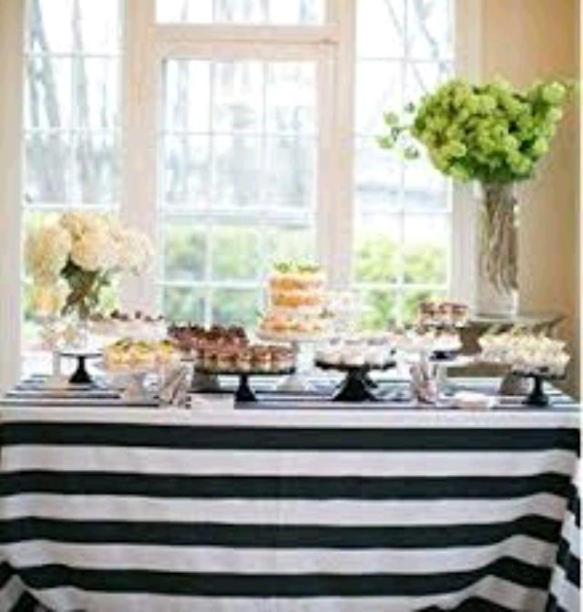 Where to find TABLECLOTH, 90 X 156 BLACK WHITE AWNING in Tulsa