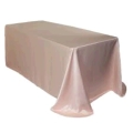 Rental store for TABLECLOTH, 90 X 156 BLUSH LAMOUR SATIN in Tulsa OK