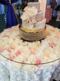 Rental store for CAKE TABLE WITH FLOWERS in Tulsa OK