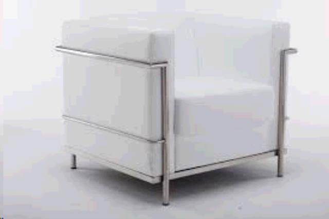 Where to find REGAL WHITE LEATHER CHAIR in Tulsa