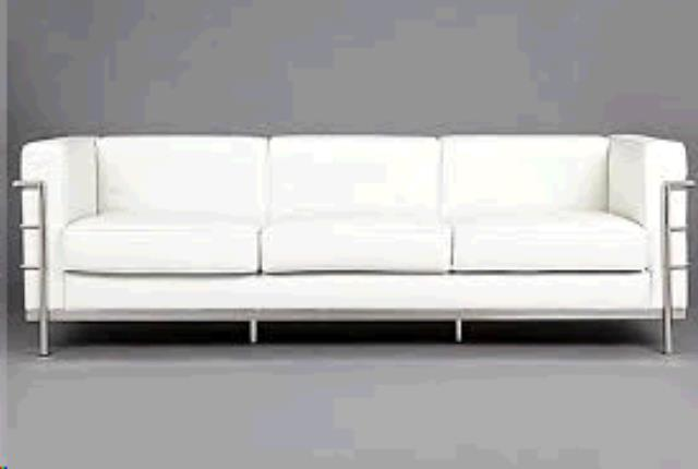 Where to find REGAL WHITE LEATHER SOFA in Tulsa