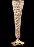 Rental store for VASE, GOLD FOOTED W CRYSTALS in Tulsa OK